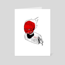 Hot Head - Art Card by Ladon Alex