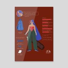 Las Poderosas Series: Giggles - Acrylic by Gabriela Riveros