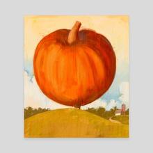 World's largest pumpkin - Canvas by Jens A. Larsen Aas