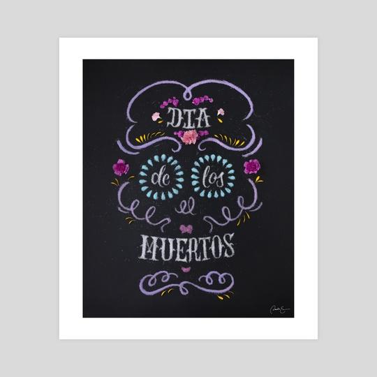 Dia De Los Muertos Sugar Skull by Danielle Evans
