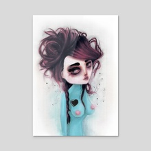 hole on my own heart - Acrylic by Rouble Rust