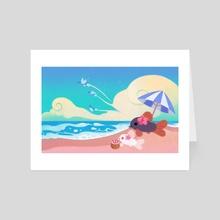 Vacance corydoras - Art Card by pikaole