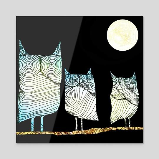 Owls by Brontosaurus Art