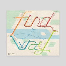Find a Way Map - Canvas by Michael Tyznik