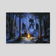 The Watcher  - Canvas by Alicia Lamburd