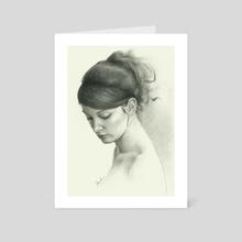 A Girl - Art Card by Henrik Moses