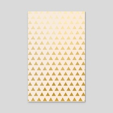 Blush + Gold Triangles - Acrylic by 83 Oranges