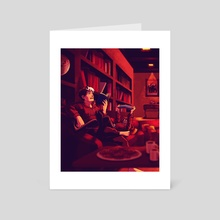 In the Study with Jason & Cass - Art Card by Spica Starson
