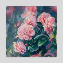 Roses - Acrylic by Sara Wilson