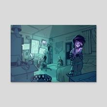 Dante's Room - Acrylic by Kiwi Byrd