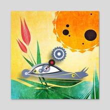 Solar-speed snail - Acrylic by Vogdux Sergik
