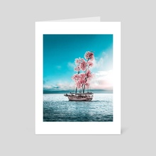 Flower boat - Art Card by Gabriel Avram