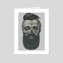Bearded Skull - Art Card by Vadim Zhulanov