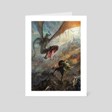 Between the Nazgul and his prey - Art Card by Gonzalo Kenny