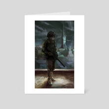 Soldier - Art Card by Eric Paints