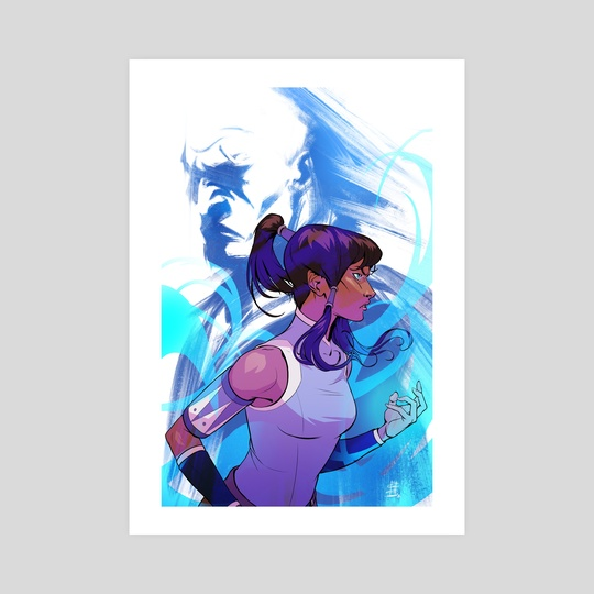 Korra and Zaheer (Poster) - The Legend of Korra by Gabe Sapienza