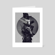 Burning Chrome - Art Card by Dark Crayon