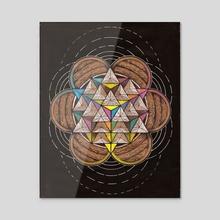 Estructura del vacio Nro 16 - Acrylic by Andres Toledo Margalef