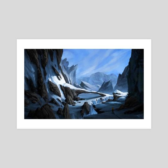 Frozen landscape by Thomas BIGNON