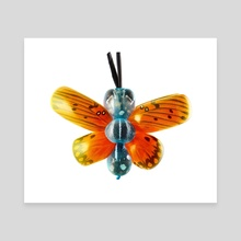 Butterfly - Balloon Zoo - Canvas by Sarah DeRemer