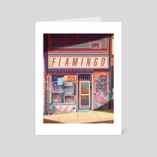 Flamingo Electronics - Art Card by Geneva Bowers