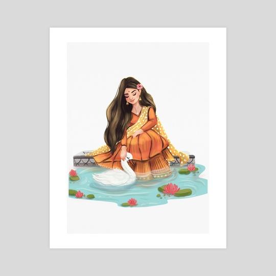 Saraswati - Hindu Goddess by Ankita Mehta