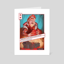 Queen of Hearts - Art Card by 52 Shades of Greed