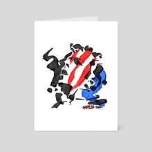 American Punk No.1 - Art Card by kevin mccall