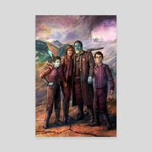 Cramp Family Ravagers - Canvas by Cliff Cramp