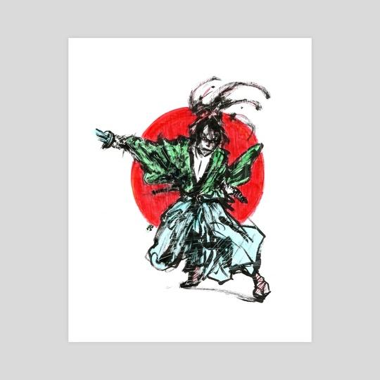 Ink samurai by Tatiana Kotelnikova