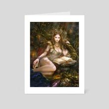 Forest demoness - Art Card by Andrey Vasilchenko