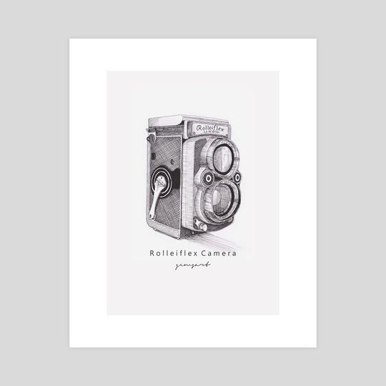 Rolleiflex Camera - Vintage Camera Series by Raditya Sanjaya