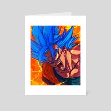 blue saiyan - Art Card by BARBARUSAH