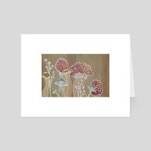 The Fungus Parade - Art Card by Misha Farris