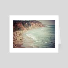 Varkala Cliffs - Art Card by Brent Olson