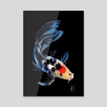 Koi Fish - Acrylic by Fabiana Pereira
