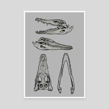 Alligator - Canvas by Vadim Zhulanov