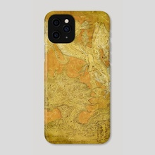 Yellow Dragon - Phone Case by Deniz Ündan