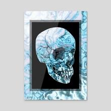 Lunar Currents Skull - Acrylic by Andi GreyScale