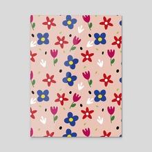 Floral spring pattern - Acrylic by Kenya Aguirre
