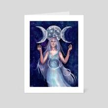 """The Moon Goddess"" - Art Card by Olya Demidova"