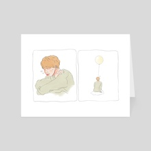 Jimin / Green v.3 - Art Card by Abi Heydon