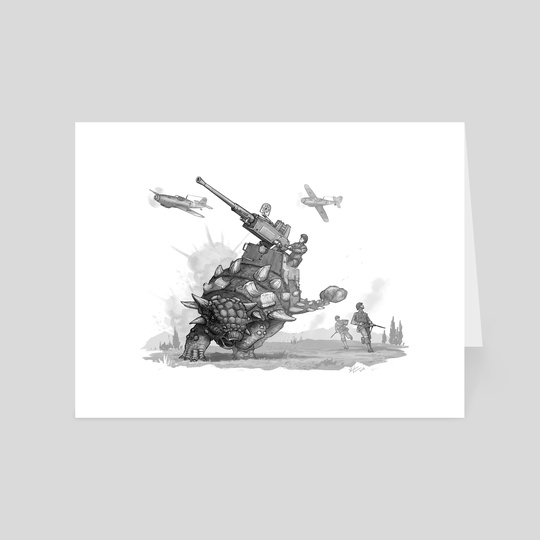 ww2 ankylosaurus by Shaun Keenan