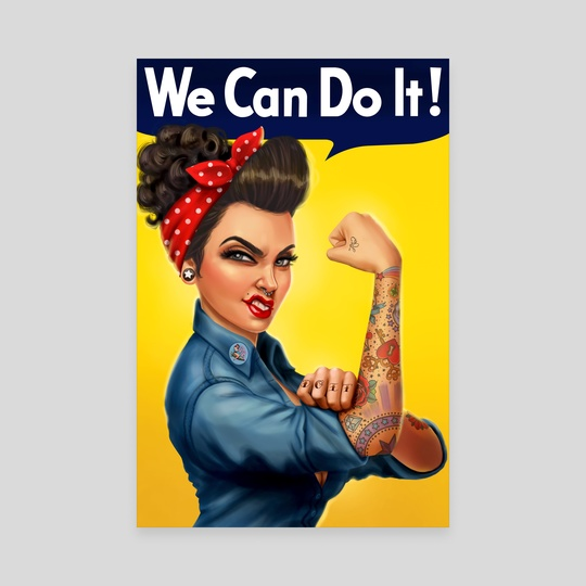 Rosie The Riveter (We Can Do It!) by Crystal Wall Lancaster