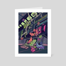 Subway Dreams - Art Card by Anaïs Maamar