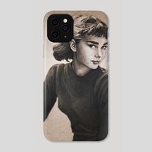Audrey Hepburn - Phone Case by Victor Roa