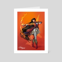 Sailor Mars   Military - Art Card by Carol Azevedo