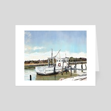 Oyster Boat at Bon Secour - Art Card by Kim Youmans