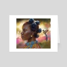 Hummingbird - Art Card by Hillary Wilson