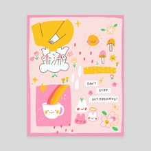 daydream - Canvas by Annie Nguyen